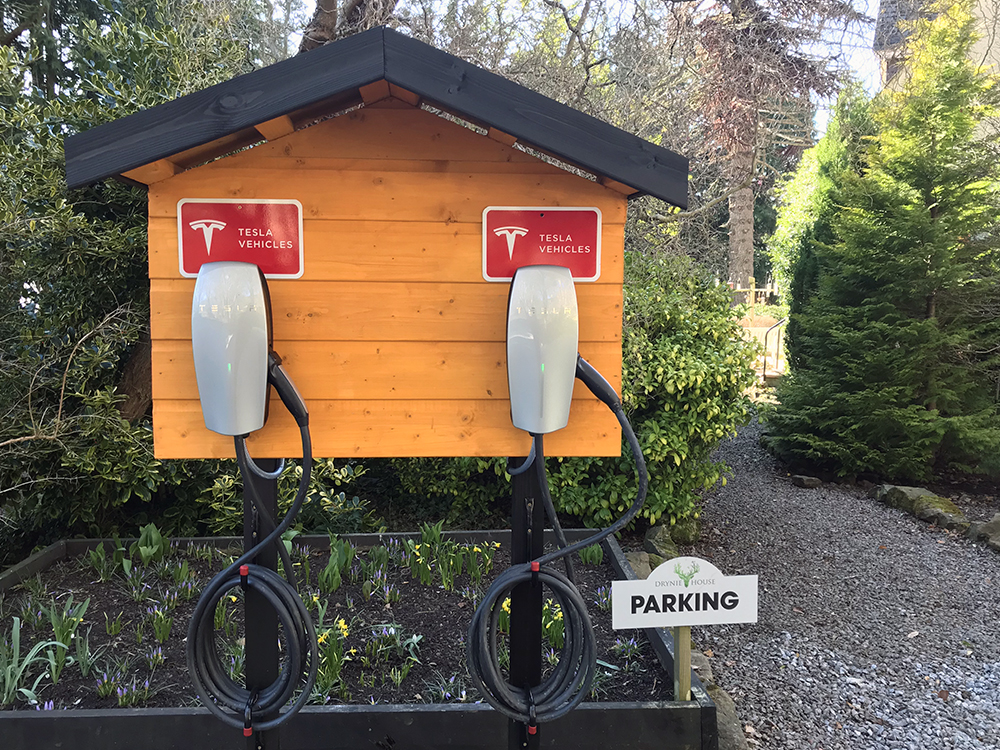 Tesla charging points